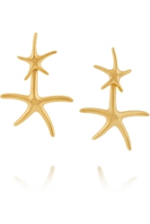 Oscar De La Renta Starfish Gold Plated Earrings
