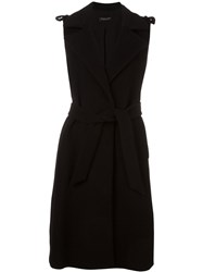 Twin Set Sleeveless Coat Black