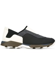 Marni Panelled Slip On Sneakers Multicolour