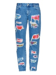 House Of Holland Distressed Boyfriend Jeans