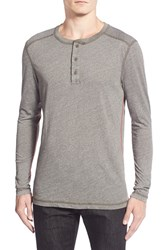 Men's Michael Stars Long Sleeve Triblend Henley