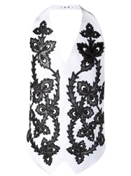 Dsquared2 Embroidered Waistcoat White
