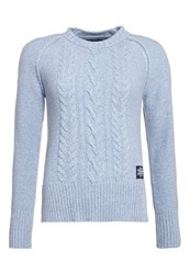 Superdry Cable Crew Jumper Blue