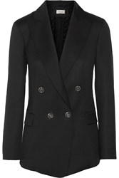 Temperley London Isaac Double Breasted Wool Blazer Black