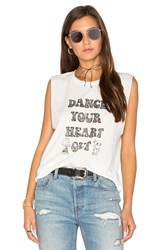 Daydreamer Dance Your Heart Out Tank White