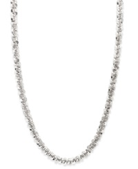 Macy's 14K White Gold Necklace 20' Faceted Chain