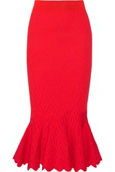 Jonathan Simkhai Textured Stretch Knit Midi Skirt