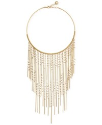 Bcbgeneration Gold Tone Imitation Pearl Fringe Statement Necklace