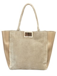 Roger Vivier Large Ines Suede And Leather Tote Bag