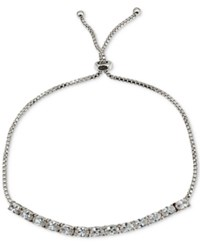 Giani Bernini Cubic Zirconia Oval Adjustable Slider Bracelet In Sterling Silver Only At Macy's