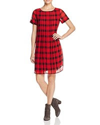 Foxcroft Buffalo Plaid Shift Dress Holiday Red