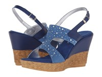 Onex Napa Royal Blue Clear Stones Women's Sandals