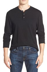 Men's James Perse 'Suvin Jersey' Long Sleeve Henley Black