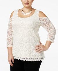 Ny Collection Plus Size Cold Shoulder Lace Blouse Off Sunrose
