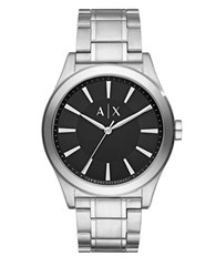 Armani Exchange Nico Stainless Steel Bracelet Analog Watch Silver