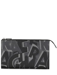 Salvatore Ferragamo Logo Printed Leather Zip Wallet