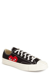 Comme Des Garcons 'Play' Low Top Sneaker Men Black Canvas