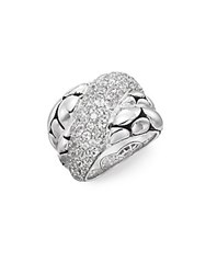 John Hardy Kali White Sapphire And Sterling Silver Twist Ring