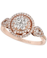 Le Vian Diamond Circle Ring 2 3 Ct. T.W. In 14K Rose Gold No Color