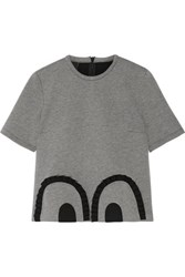 Mother Of Pearl Coley Ruffled Bonded Jersey Top Gray