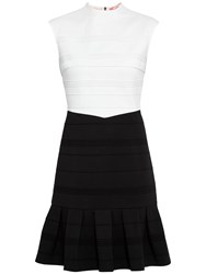 Ted Baker Flared Skirt Detail Dress Black White