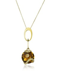 Incanto Royale Citrine And Diamond 18K Gold Charm Necklace