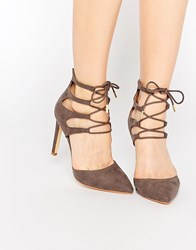 Truffle Collection Nova Ghillie Heeled Shoes Taupe Mf