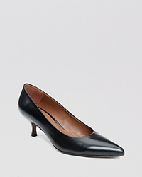 Donald J Pliner Pointed Toe Pumps Rome Kitten Heel Black