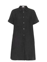 Raey Dolman Sleeved Linen Blend Dress Dark Grey