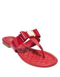 Cole Haan Tali Bow Sandals Red