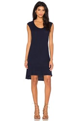 Velvet By Graham And Spencer Arya Cozy Heather Dress Navy