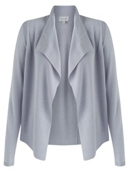 Jigsaw Melange Rib Trim Cardigan Cloud