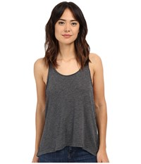 Project Social T Venice Textured Tank Top Charcoal Women's Sleeveless Gray