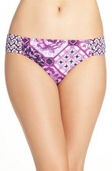 Tommy Bahama Women's 'Tiles Of Tropics' Shirred Bikini Bottoms