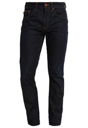 Timberland Squamm Straight Leg Jeans Worn In Rinse Dark Blue Denim