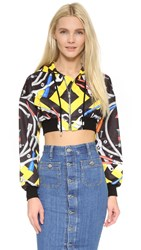 Moschino Crop Sweatshirt Multi