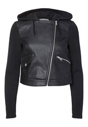 Noisy May Faux Leather Jacket Black