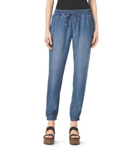 Michael Kors Chambray Track Pants Light Cadet Wash