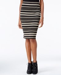 Rachel Roy Striped Pencil Skirt Only At Macy's Metallic
