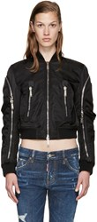 Dsquared Black Nylon Bomber Jacket