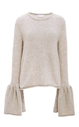 Co Cashmere Bell Cuff Sweater Brown