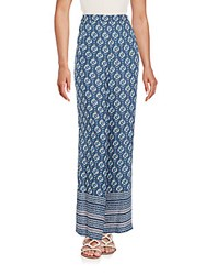 Bcbgmaxazria Joan Wide Leg Pants Dark Ink Multi