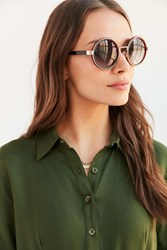 Urban Outfitters Valencia Round Metal Sunglasses Black
