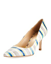 Etienne Aigner Lydia Striped Snake Embossed Pump Dusk