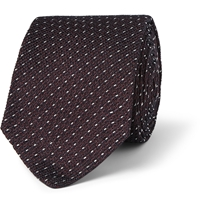 Alfred Dunhill Patterned Mulberry Silk Tie Red