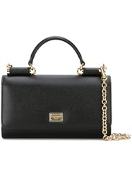 Dolce And Gabbana Mini 'Von' Wallet Crossbody Bag Black
