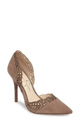 Jessica Simpson Women's Teriann D'orsay Pump Warm Taupe Suede