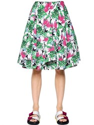 Antonio Marras Floral Printed Cotton Poplin Skirt