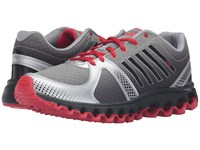 K Swiss X 160 Cmf Neutral Gray Silver Black Fiery Red Men's Lace Up Casual Shoes