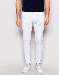 Waven Jeans Royd Extreme Super Skinny Fit Mid Rise White White